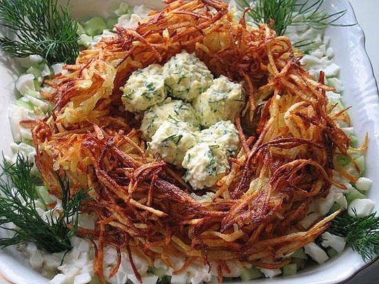 Самые вкусные рецепты: Салат «Гнездо глухаря»