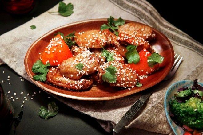 Klissete kyllingvinger med soya og honning