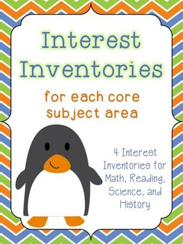The Science Penguin: Interest Inventories (for all core subject areas)