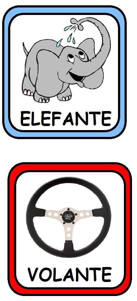 Sencillas y divertidas tarjetitas de palabras que riman para jugar y aprender: Patp-Gato, Botón-León...etc