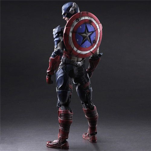 Marvel Universe Avenger Captain America Crazy Toys Action Figure Display Toy #Unbranded