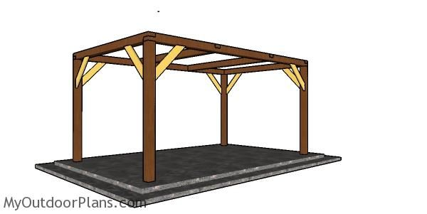 Simple 10x16 Rectangular Gazebo Plans Myoutdoorplans Free Woodworking Plans And Projects Diy Shed Woo In 2020 Gazebo Plans Rectangular Gazebo Wooden Gazebo Plans