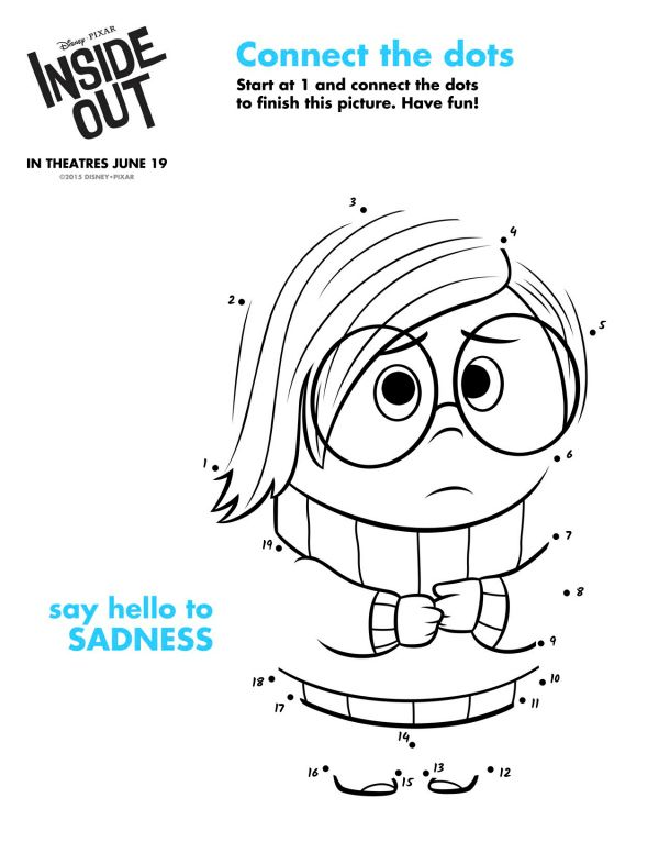 Free Printable Disney Inside Out Sadness Connect The Dots150906
