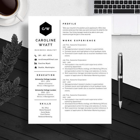 professional resume template cover letter for ms word microsoft 2008 templates mac download free