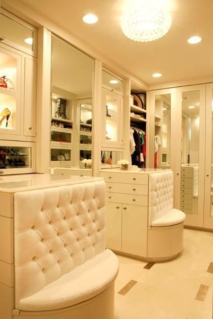 Seating; bedroom designs with walk in closets and closet organizing tips
