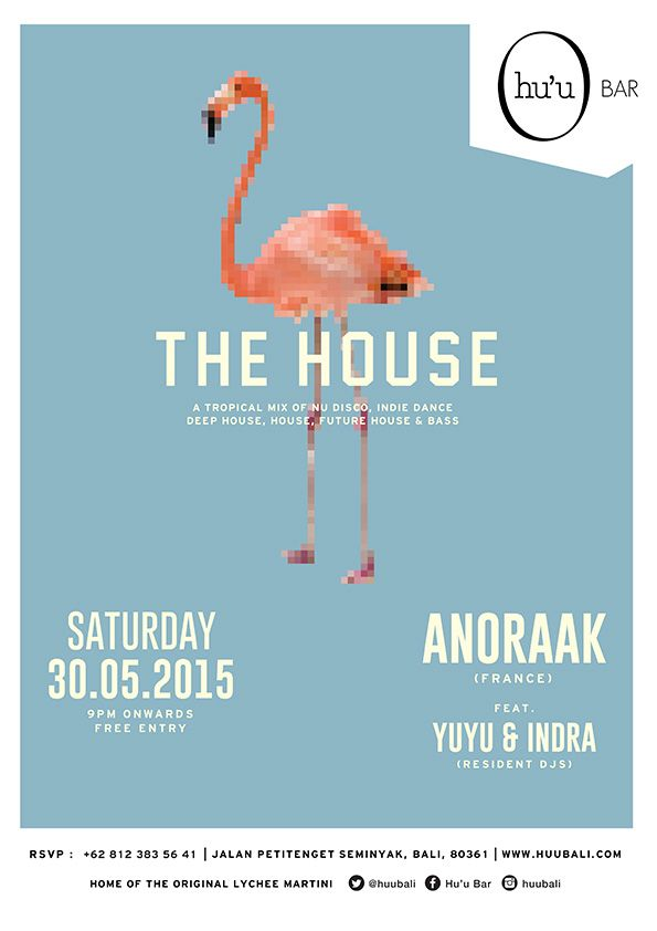 #huubar #thehouse #housemusic #party #typography #graphicdesign #flyer