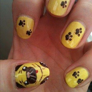 Cool Pug Nails