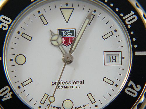 TAG Heuer 1500 WD1213-G-20 white dial