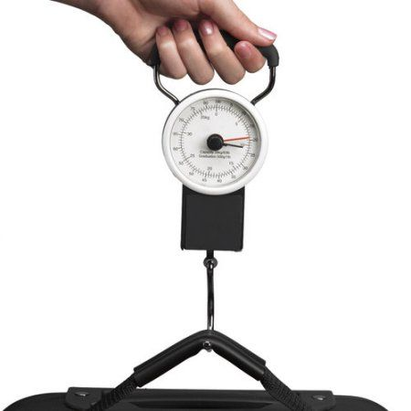 Protege Luggage Scale and Tape Measure, White