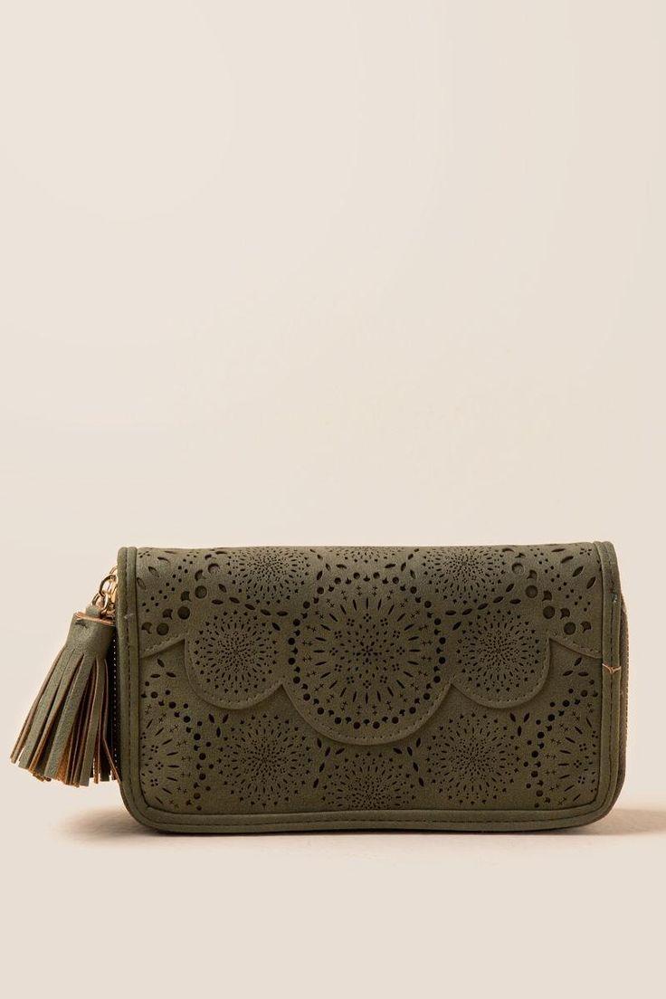 Ophelia Perforated Zip Wallet