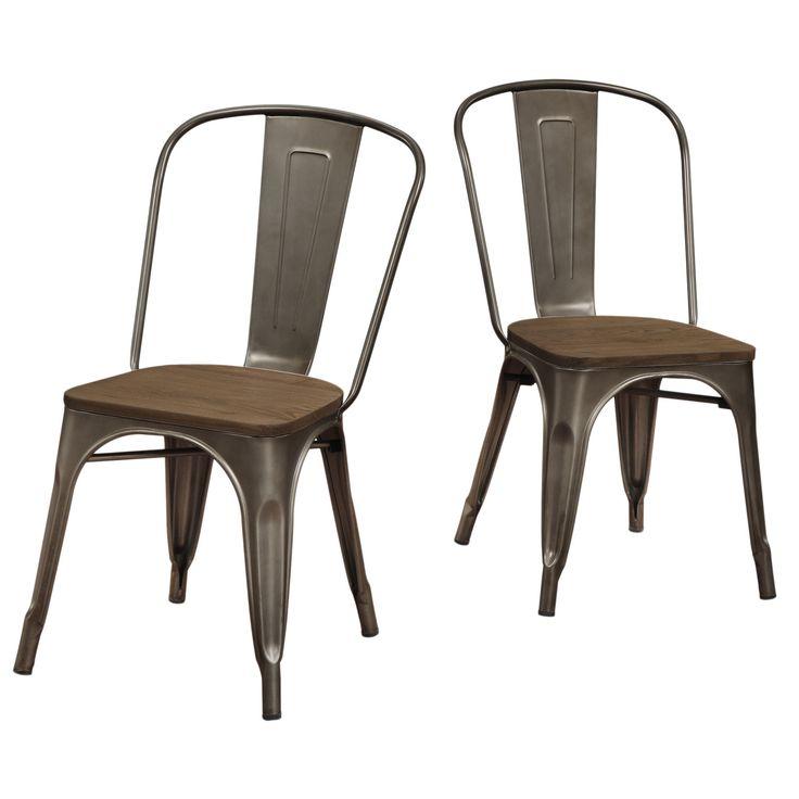 Tabouret Vintage Wood Seat Bistro Chair Tabouret Vintage