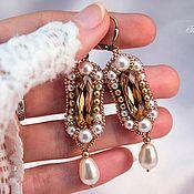 Мастер-классы Галины Дитрих. Оплетение бусины бисером, оплетение риволи Сваровски, винтажные серьги и другое.