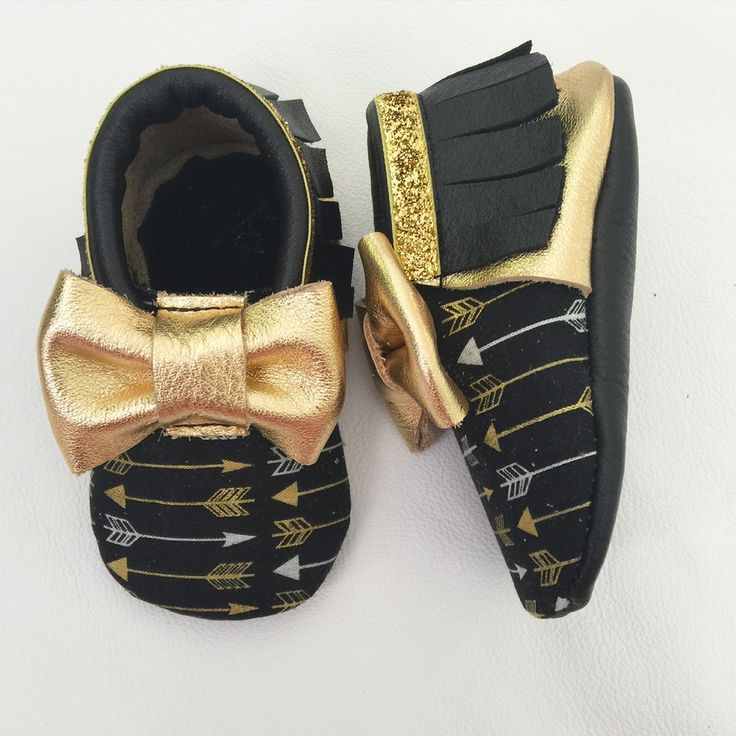 Golden Arrow moccs baby toddler moccasins shoes