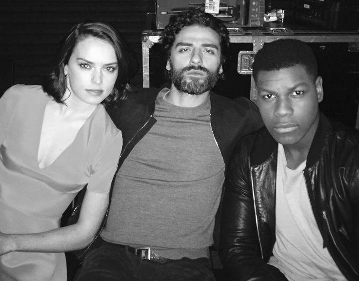 Daisy Ridley, Oscar Isaac and John Boyega -STAR WARS The Force Awakens Panel