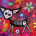 El Gato II Day Of The Dead Painting by Pristine Cartera Turkus
