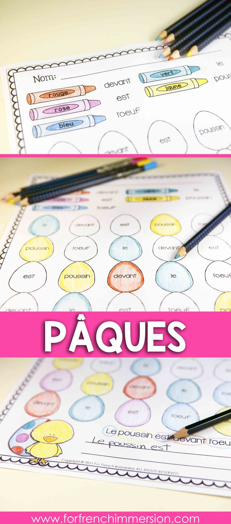 French Sight Words Practice – Easter-themed | Pâques