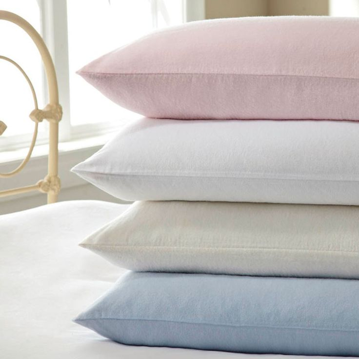 Flannelette Sheets | Pink | Blue | White | Ivory at Bedeck Home