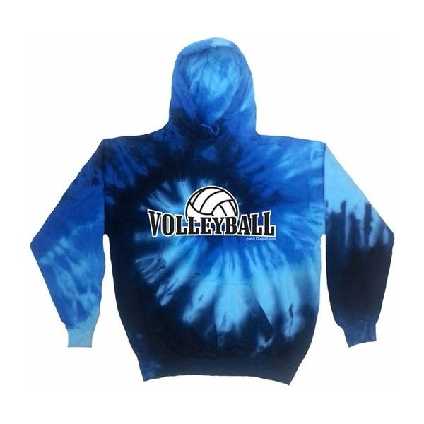 Bright Tie Dye Volleyball Rising Hooded Sweatshirts in 6 Colors ($99) ❤ liked on Polyvore featuring tops, hoodies, hooded pullover, tie dye hoodie, tie dyed hoodies, blue top and bright blue top