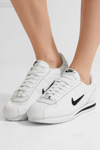 Nike - Cortez Basic Jewel Leather Sneakers - White