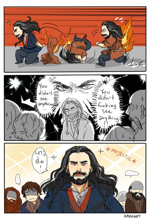 From kadeart ... dwarf, The Hobbit, Tolkien, Thorin Oakenshield, Thorin, Bilbo, Dwalin, Gloin