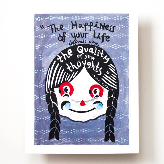 Happy Thoughts Print by romawinkel on Etsy, $18.00