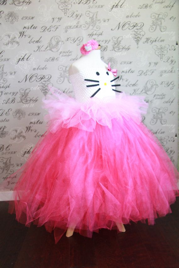 HELLO KITTY Cat Costume Tulle Tutu Dress-up Halloween Costume Photo Prop Tutu Children Toddler Infant Custom Crochet Disney Disney Princess on Etsy, $59.00