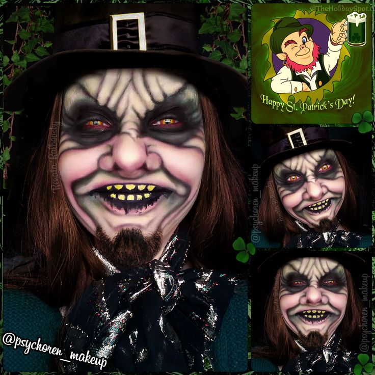 Evil Leprechaun by psychoren_makeup ☛ Follow me for more makeup on Instagram: http://instagram.com/psychoren_makeup