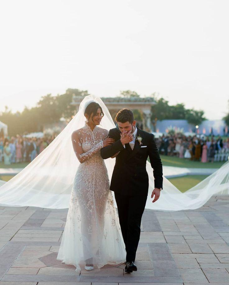 Priyanka Chopra And Nick Jonas Wedding Western Wedding Dress Picture Instagra My Blog Kleid Hochzeit Westliche Brautkleider Bollywood Hochzeit