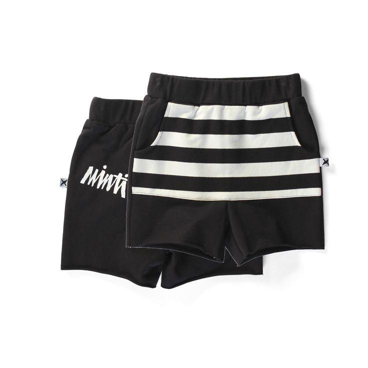 Minti Pouch Short - Black Stripe – Pops of Neon