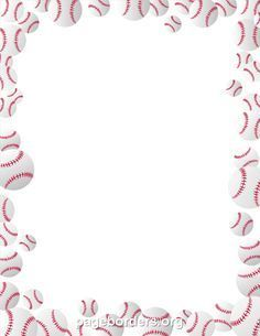 Printable baseballs border. Use the border in Microsoft Word or other programs for creating flyers, invitations, and other printables. Free GIF, JPG, PDF, and PNG downloads at  http://pageborders.org/download/baseballs-border/