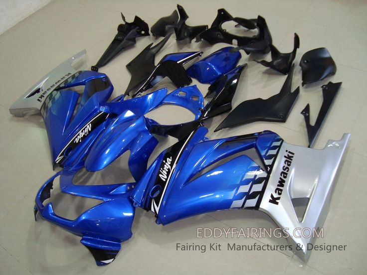 NINJA250 08-12 BLUE\SILVER wwweddyfairings Kawasaki