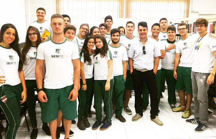Bate papo com alunos do ensino médio da Escola do SESI
