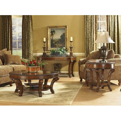 A.R.T. Old World Round Coffee Table Set