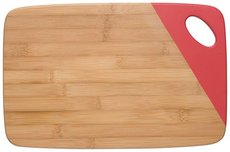 Now Designs Bamboo Cutting Board with Dipped Accent, Red