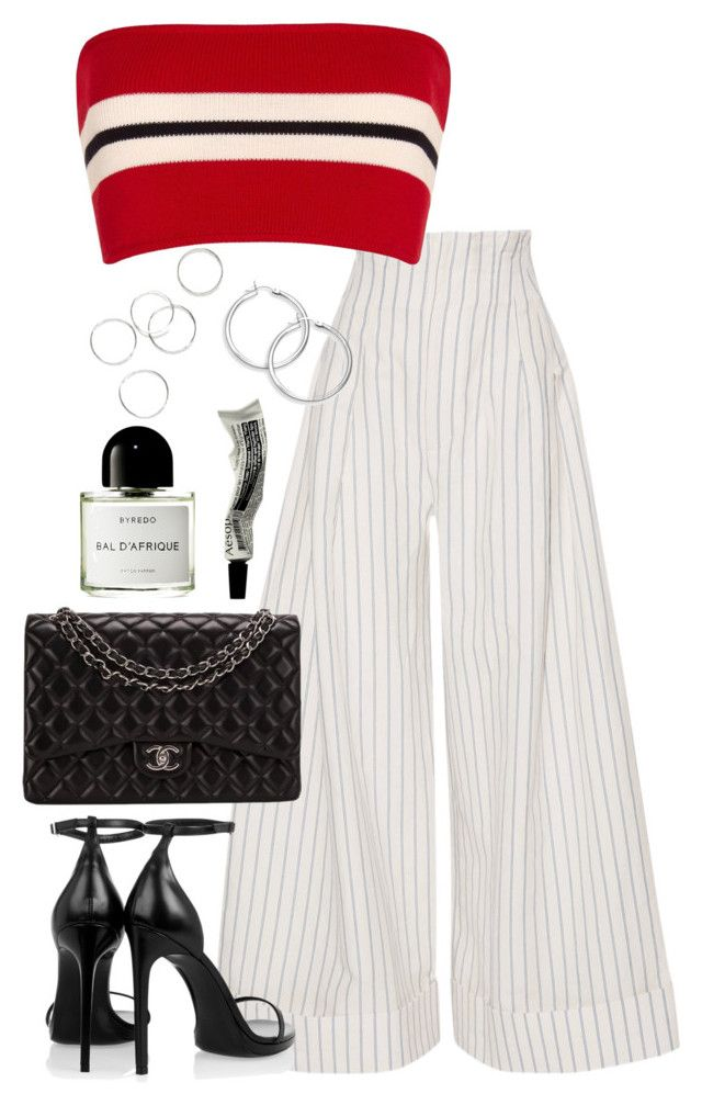 """""""Untitled #4142"""" by theeuropeancloset ❤ liked on Polyvore featuring Jacquemus, Etienne Deroeux, Yves Saint Laurent, Chanel, Aesop and Byredo"""