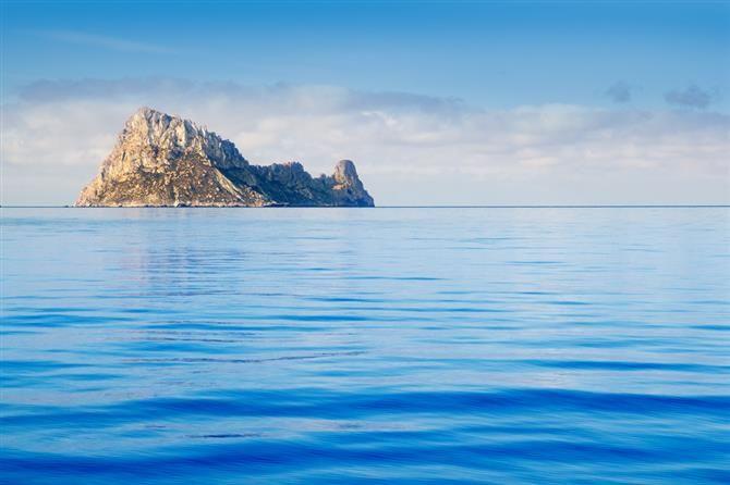 Es Vedra Island, off the coast of Ibiza. Some believe this is sunken Atlantis