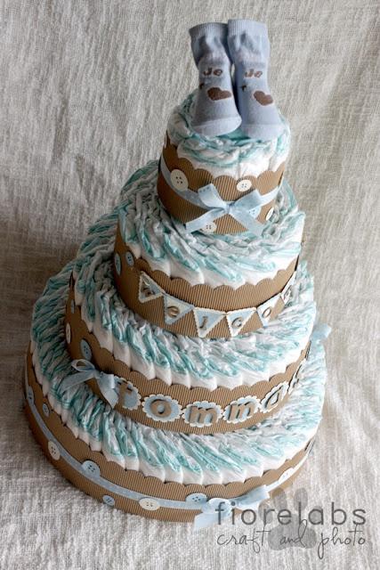 torta 100 pannolini by Fiore