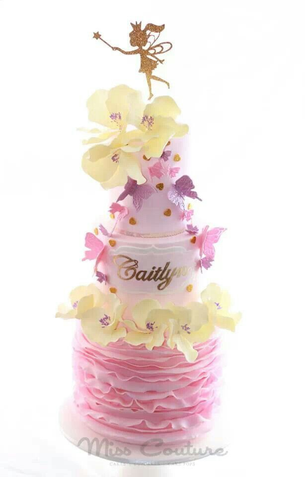 Pink and white girly cake