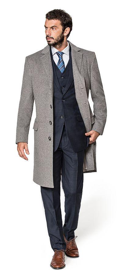 Cappotto grigio di cashmere