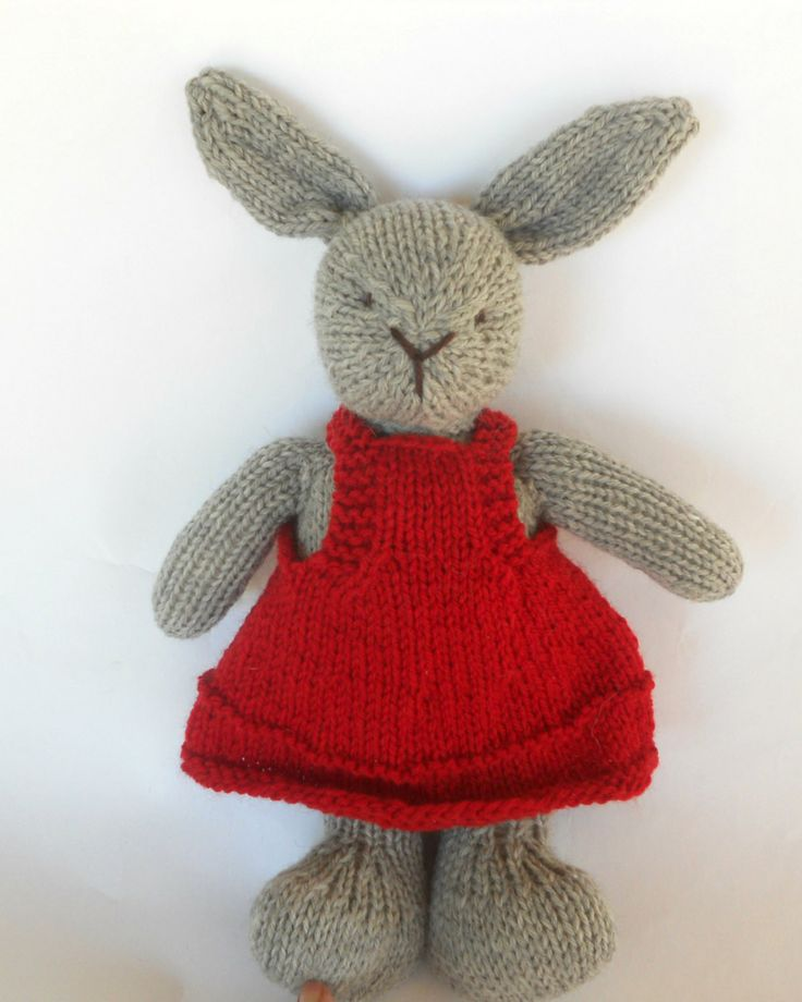 Natural Stuffed Animal Toy Bunny Rabbit Lovey handKnit by woolies, $75.00
