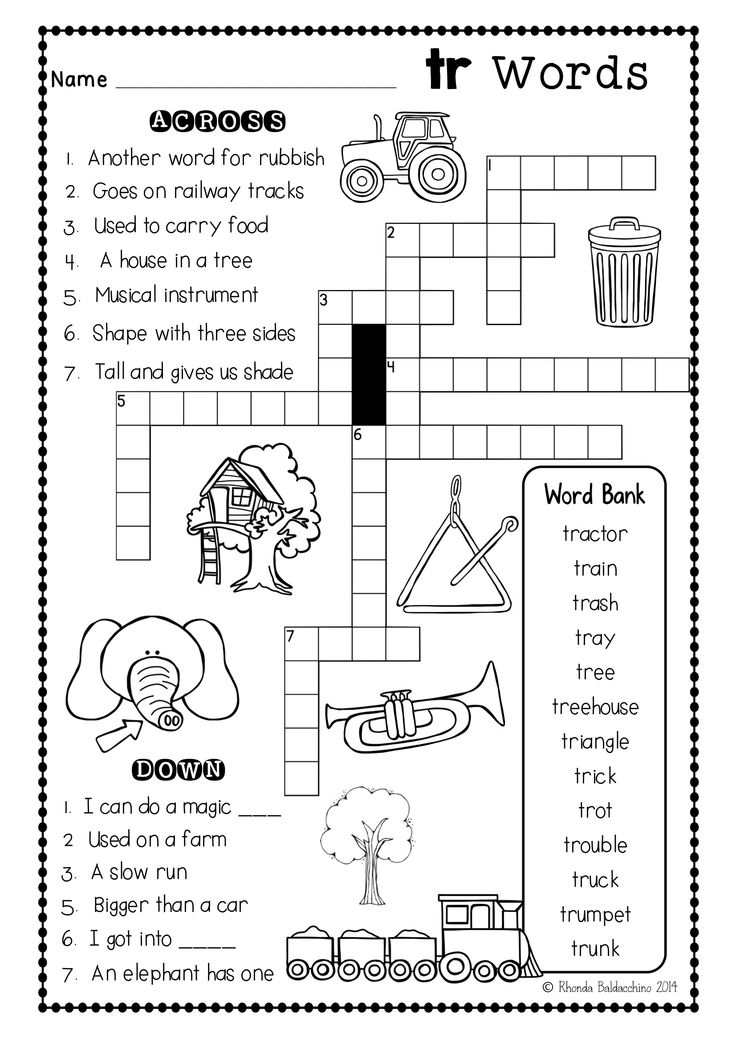 These are Fun blends crossword puzzles to supplement any phonics program