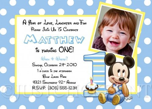 16 best First Birthday Party Ideas images – Baby Mickey First Birthday Invitations