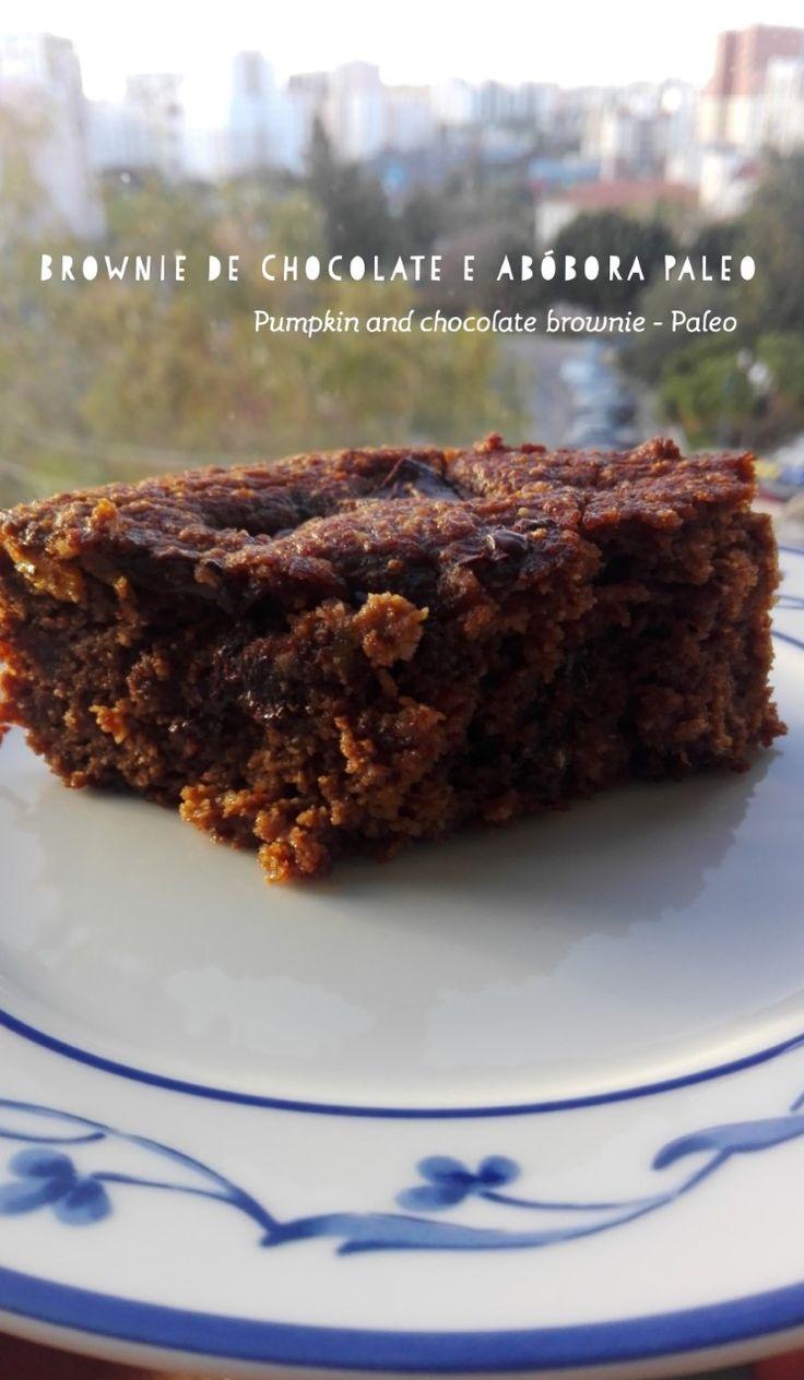 Paleo Chocolate and pumpkin Brownie / Brownie de chocolate e abóbora paleo