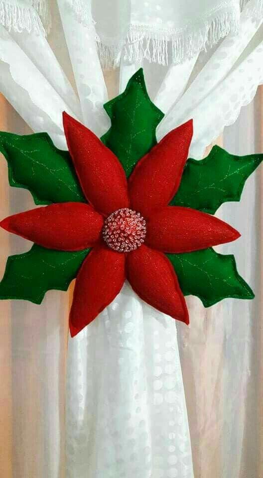 Flor hermosa navideña.