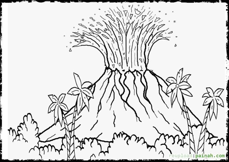 volcano printable coloring pages - photo#24