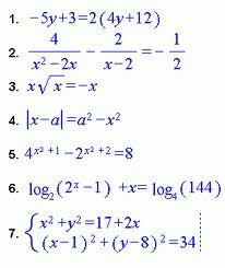 Algebra equations are the equations of the form algebraic variables with some numerical co-efficient. Algebra equation contains the terms like numbers, integers, fractions, roots, exponents, ratios, graphing etc. Pre algebra equation is the simple equation which can be solved easily without any complex calculations. Linear equation is an algebraic equation in which each term is either a constant or the product of a constant and with a single variable. It contains one or more variables.
