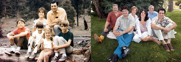 Then and Now: Left, the Bonanno family, from New York, in ...