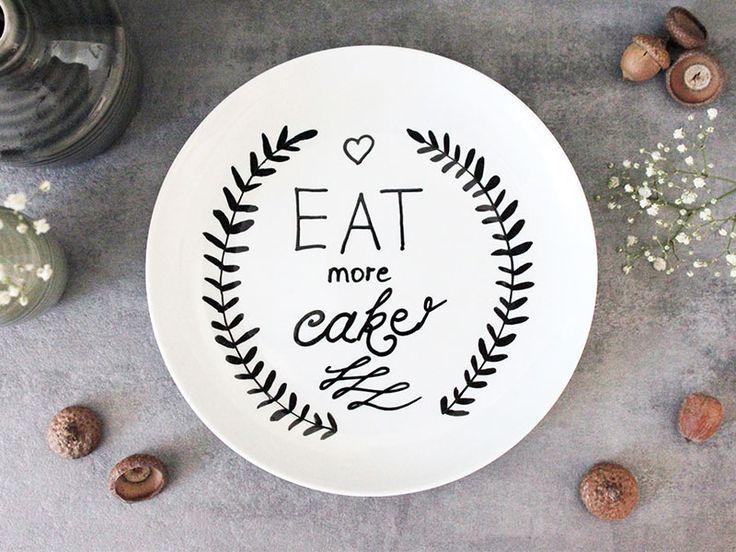 die besten 25 teller bemalen ideen auf pinterest individualisierte kaffeetassen porzellan. Black Bedroom Furniture Sets. Home Design Ideas