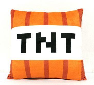 Minecraft TNT Pillow