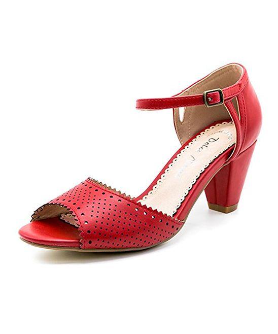 $15! Dolce Nome - Red Matilda Peep-Toe Pump